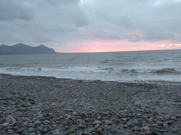 Sunset over Caer Arianrhod