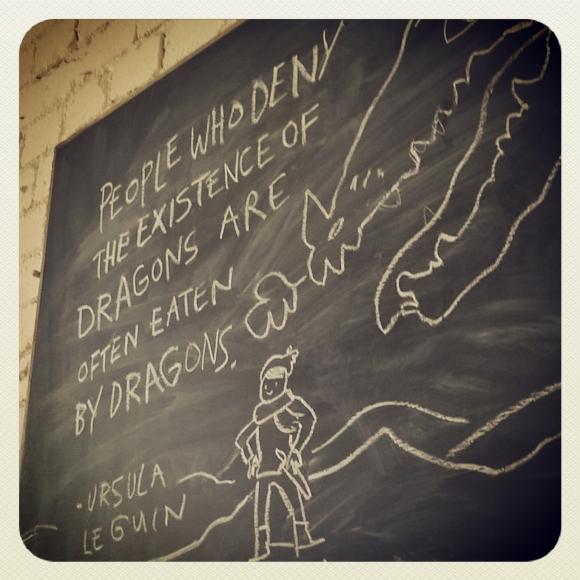Chalkboard art, Bristol