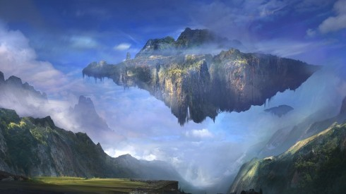 sky-island-floating-mountain-clouds-sky-artwork